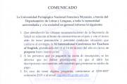 COMUNICADO XI CONFERENCIA INTERNACIONAL DE PROFESORES DE INGLÉS
