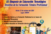 III SIMPOSIO DE EDUCACIÓN TECNOLÓGICA 2019