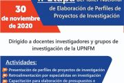II ETAPA DEL TALLER NACIONAL DE ELABORACIÓN DE PERFILES DE PROYECTOS DE INVESTIGACIÓN