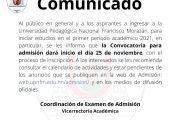 COMUNICADO ADMISIONES 2021