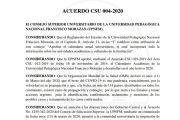 ACUERDO CSU 004-2020