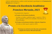 Convocatoria Premio a la Excelencia Académica Francisco Morazán, 2021.